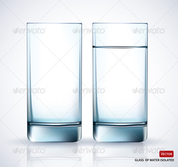 GraphicRiver Glass With Water on White Background 7755725