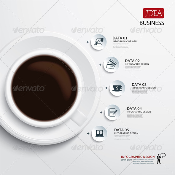 GraphicRiver Coffee Cup And Business Infographic 7755756