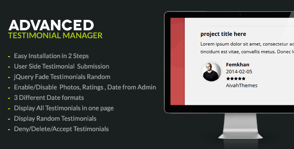 Advanced Testimonials Manager System - CodeCanyon Item for Sale
