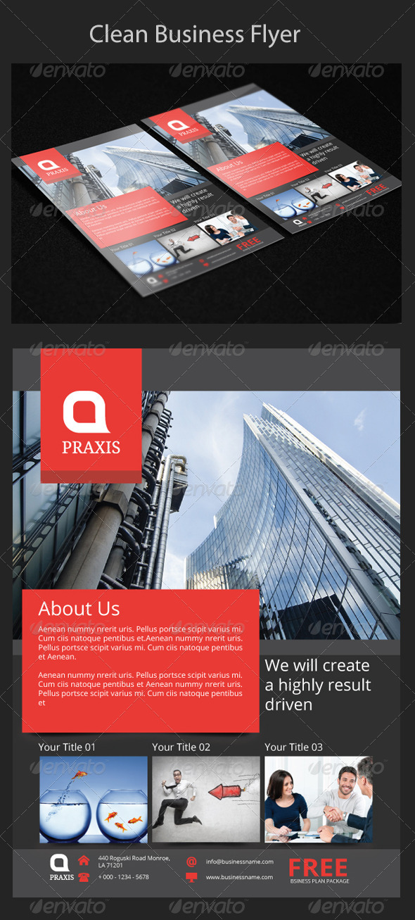 GraphicRiver Clean Business Flyer 7756448