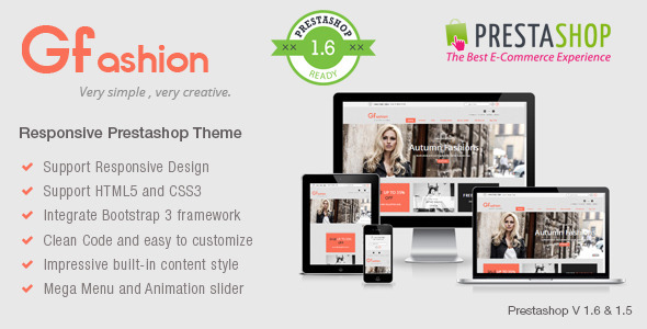Gfashion Responsive Prestashop Theme - Fashion PrestaShop
