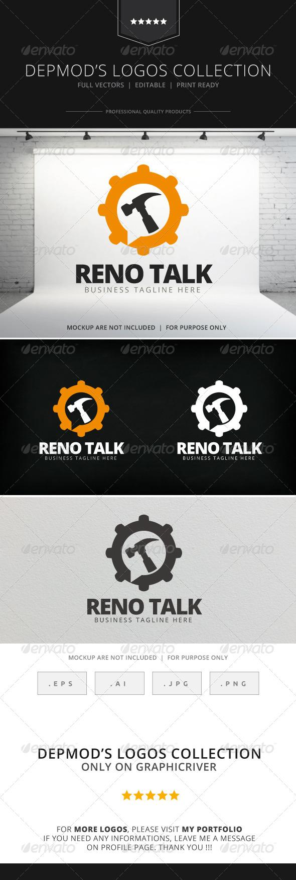 GraphicRiver Reno Talk Logo 7757485