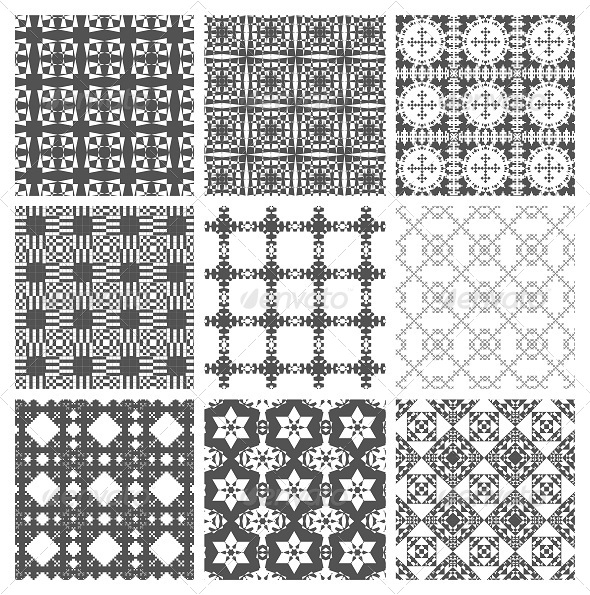 GraphicRiver Geometric Squares Patterns 7757805