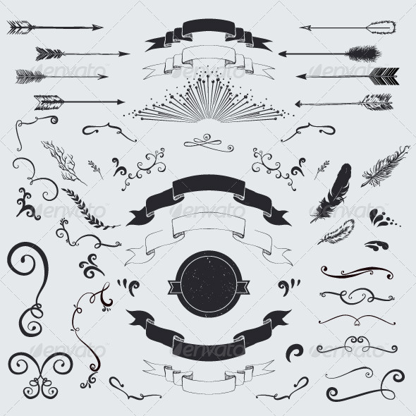 GraphicRiver Vector decorative elements set 7723820
