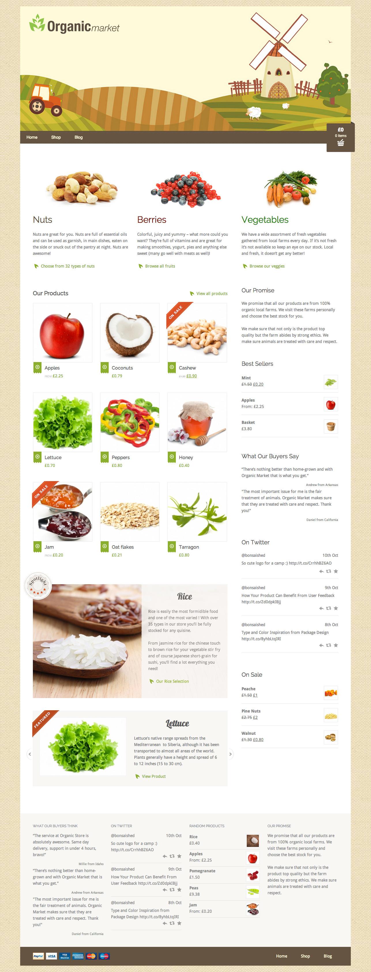 Organic Market - Friendly Ecommerce