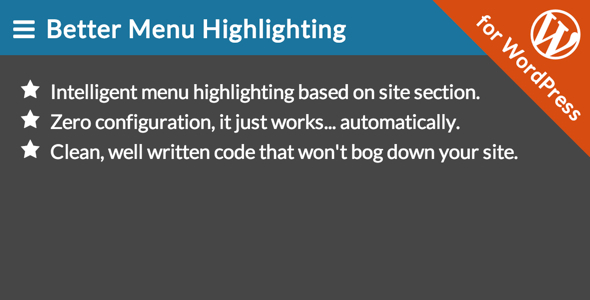 CodeCanyon Better Menu Highlighting for WordPress 7751788