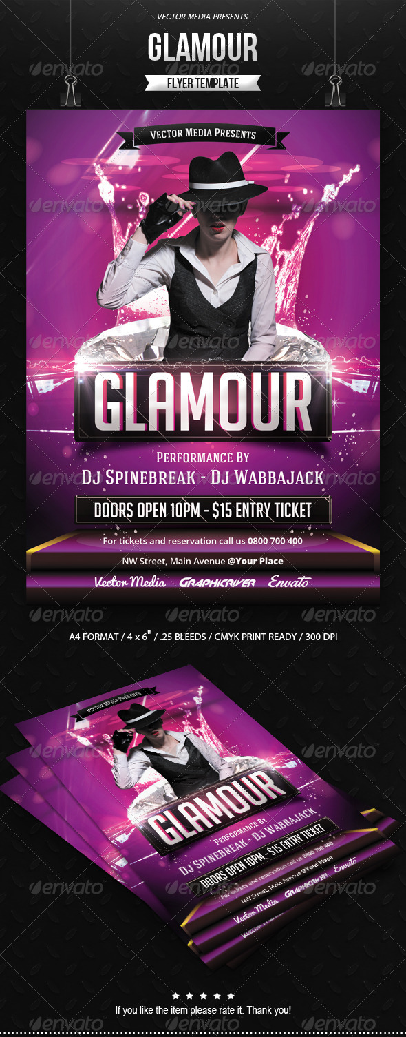 GraphicRiver Glamour Flyer 7758068