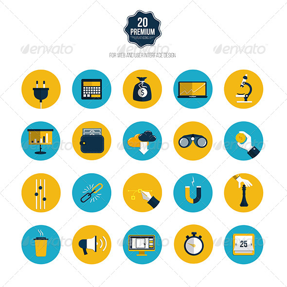 GraphicRiver This is the Set of Icons for Mobile App and Web 7758103