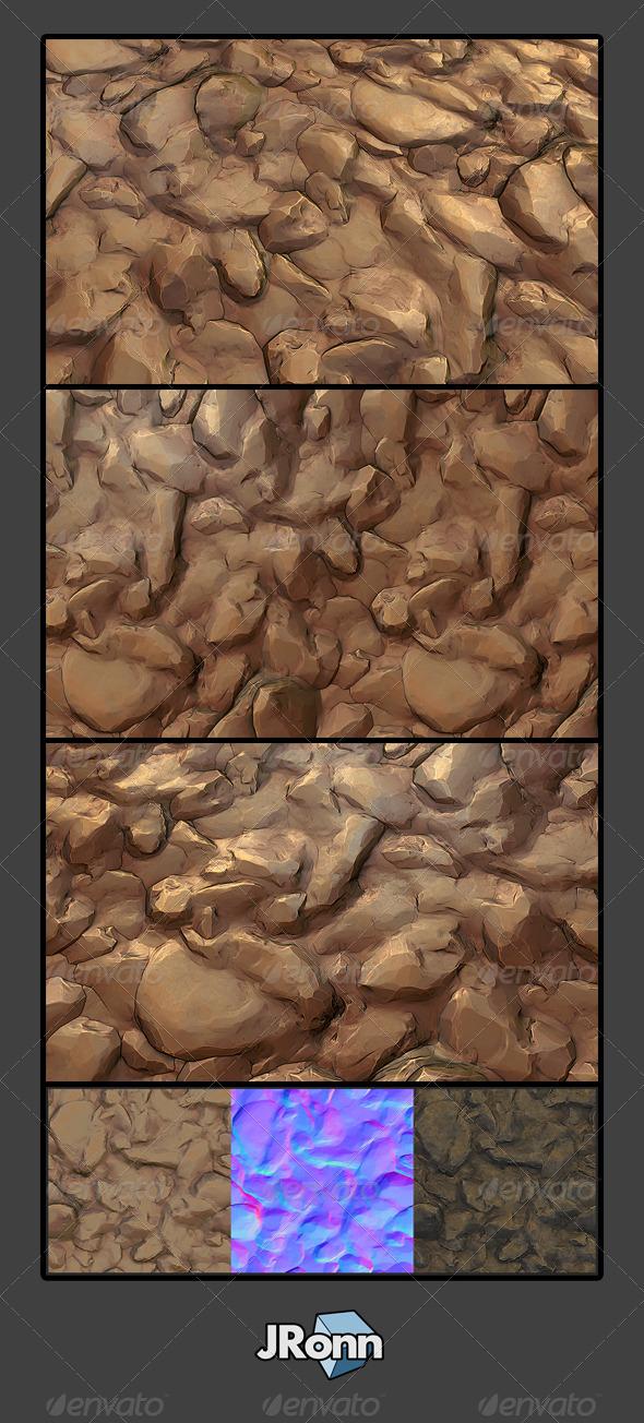 3DOcean Stone Desert Ground 01 7758161