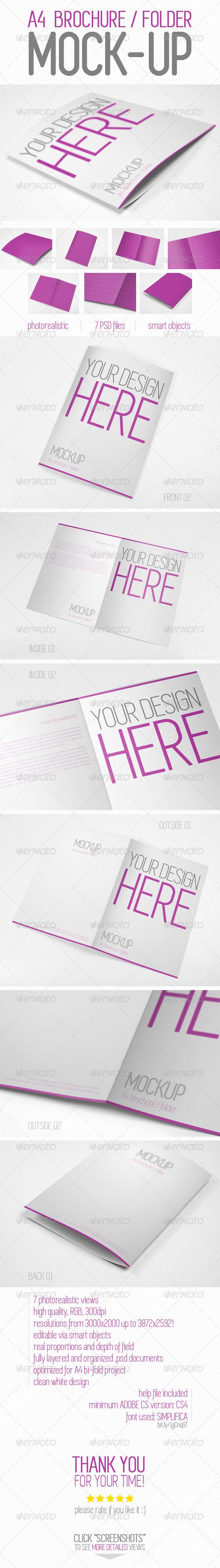 GraphicRiver A4 Brochure Folder Mock-up 7758175