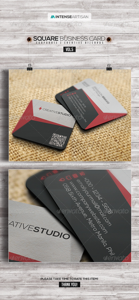 GraphicRiver Square Business Card V.5 7758182