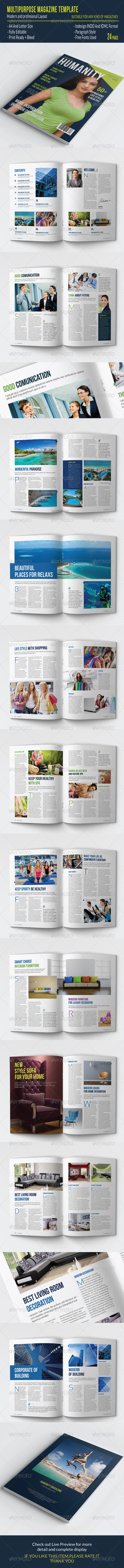 GraphicRiver Multipurpose Magazine Template 7758215