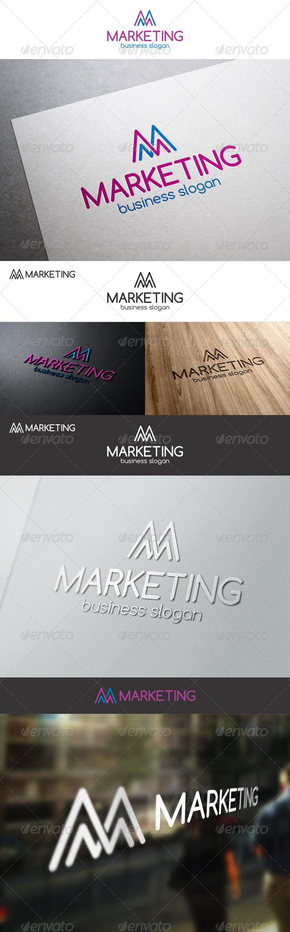 GraphicRiver M Marketing Stats Logo 7758438