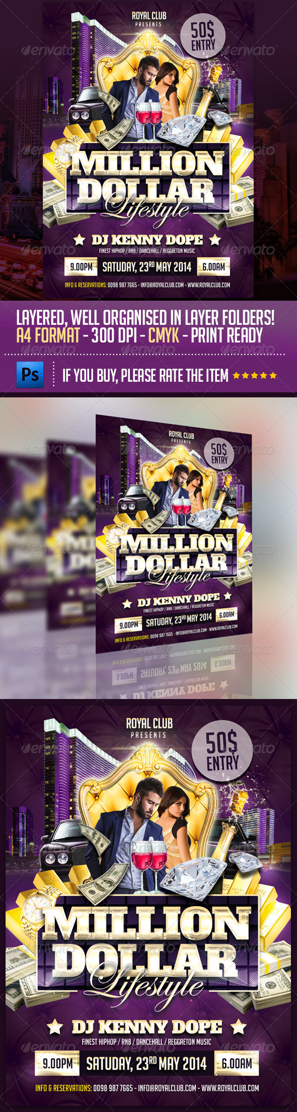 Million Dollar Lifestyle Party Flyer Template