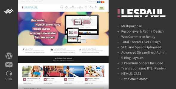 !LesPaul - Retina Responsive WordPress Theme
