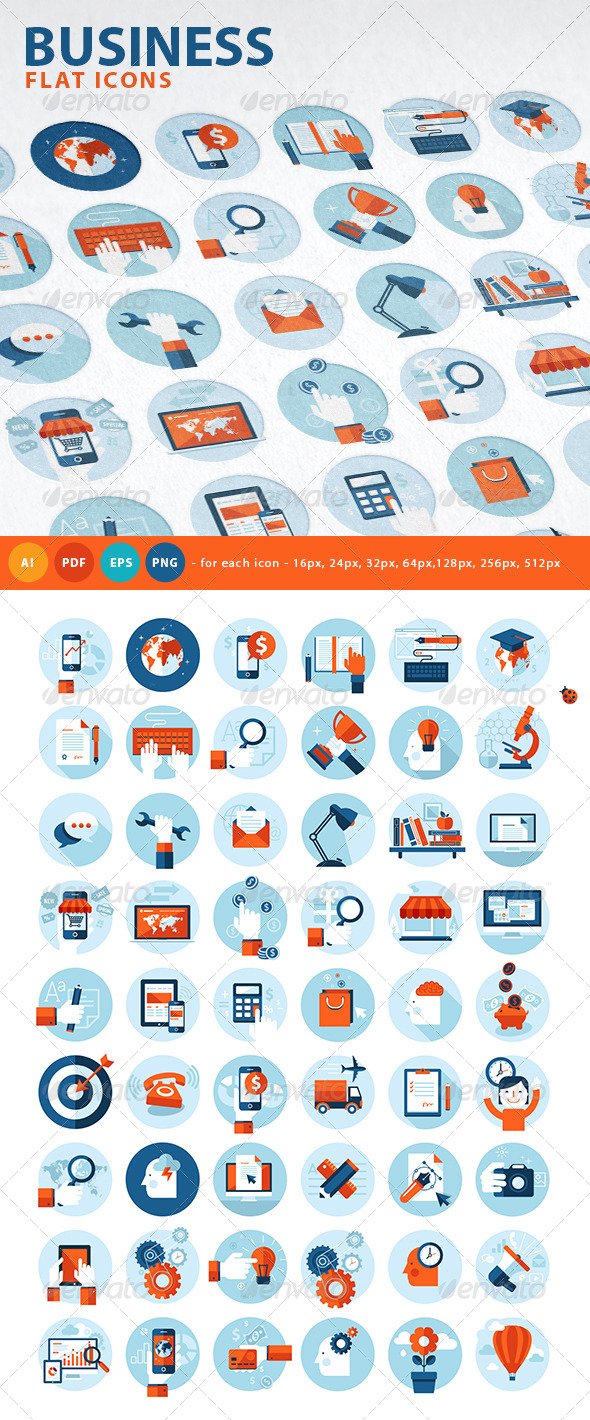 GraphicRiver Set of Flat Design Concept Icons 7759069