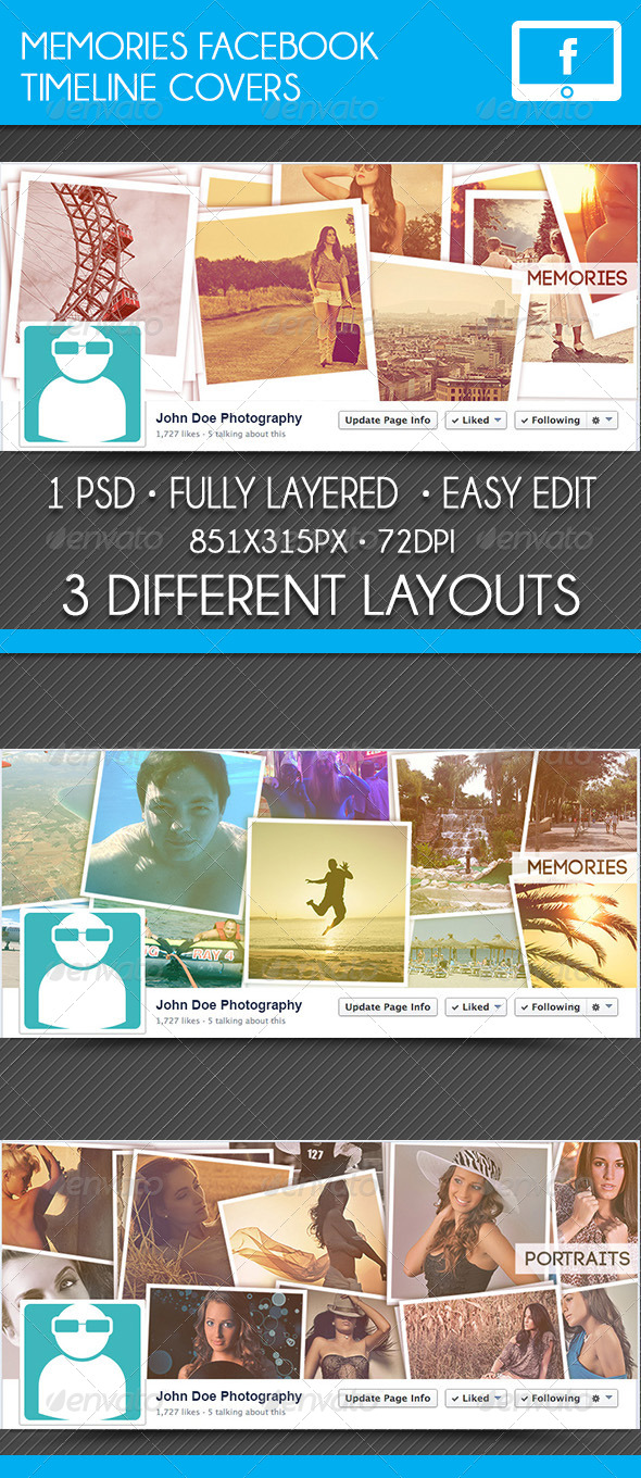 GraphicRiver Memories Facebook Timeline Covers 7759131
