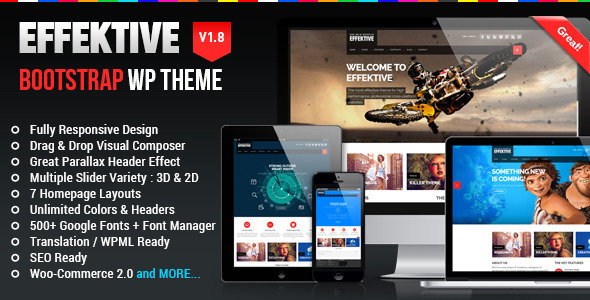 EFFEKTIVE - Bootstrap MultiPurpose Wordpress Theme - Business Corporate