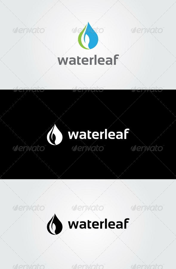 GraphicRiver Water Leaf Logo 7759584