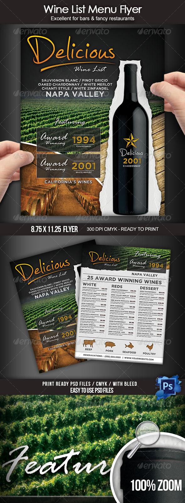GraphicRiver Wine List Menu Flyer 7759641