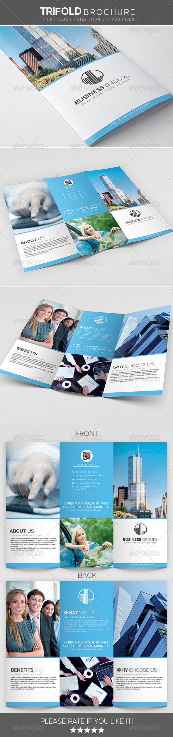 GraphicRiver Creative Multipurpose Trifold Brochure 7759824