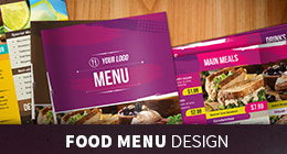 Food Menus Design