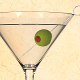 Martini Glas with Olive