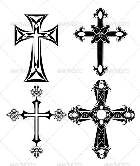 GraphicRiver Four Black Cross 7760484