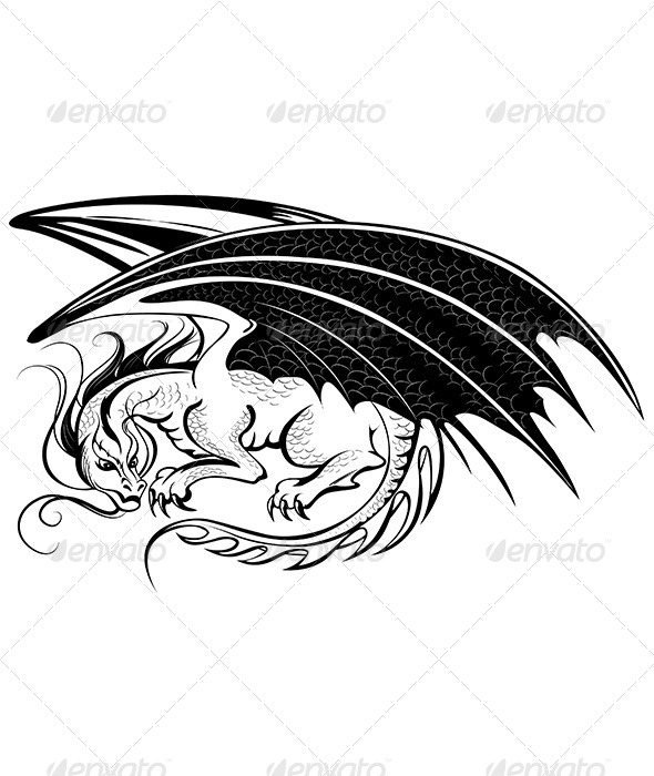 GraphicRiver Stylized Dragon 7760536