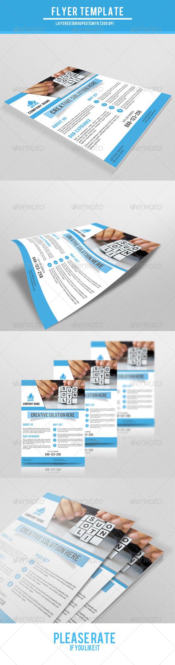 GraphicRiver Corporate Flyer-V02 7760582