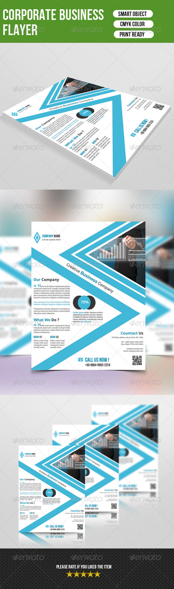 GraphicRiver Corporate Flyer Template-V07 7760584