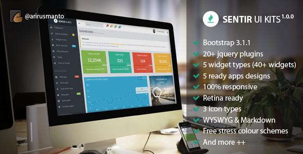 ThemeForest Sentir Responsive Admin and Dashboard UI Kits 7700260