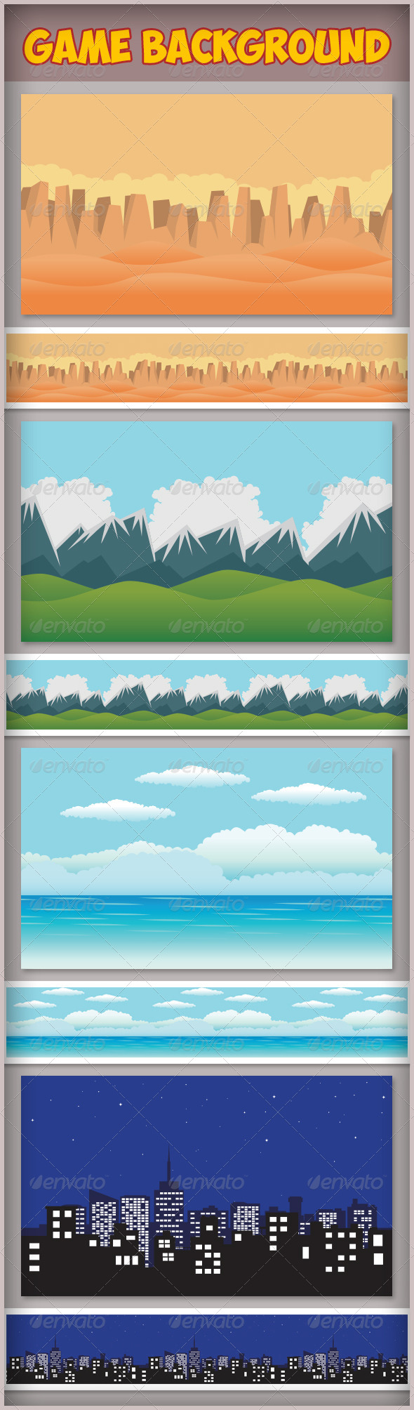 GraphicRiver Game Assets Game Background 7761416