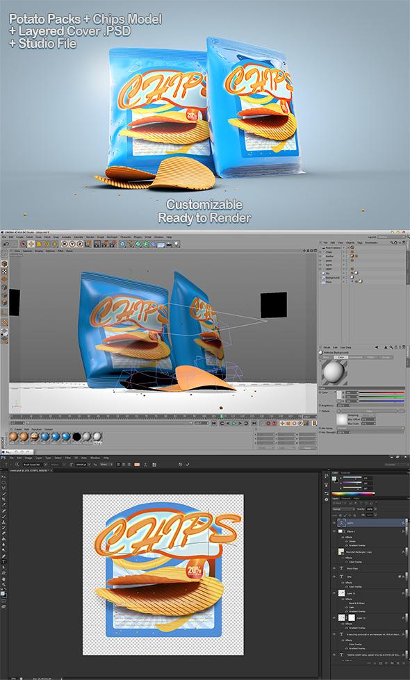 3DOcean Chips Packs & PSD 7761465