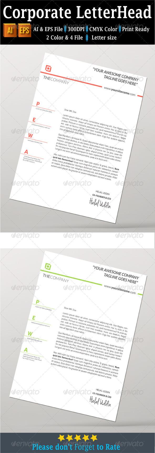 GraphicRiver Corporate Letterhead 7761608