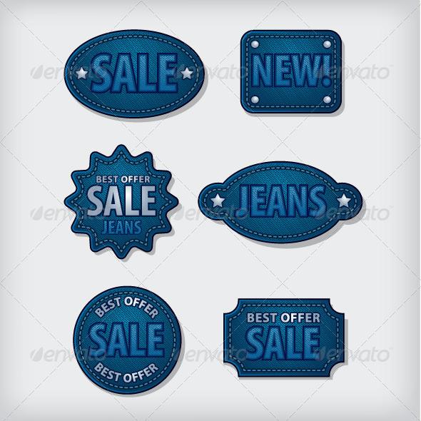 GraphicRiver Jeans Sale Labels 7739265