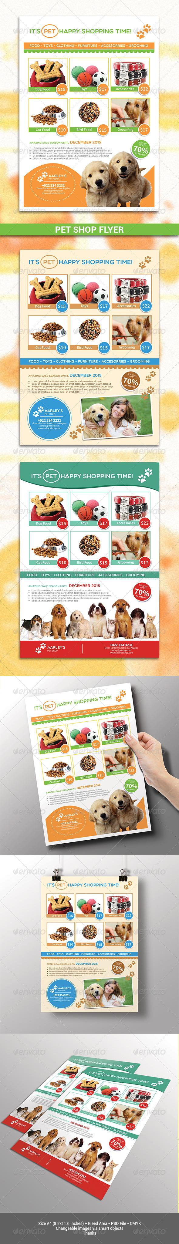 GraphicRiver Pet Shop Flyer 7761788