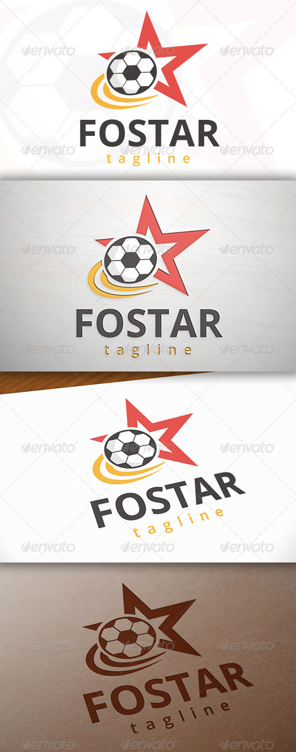 GraphicRiver Football Star Logo 7761904