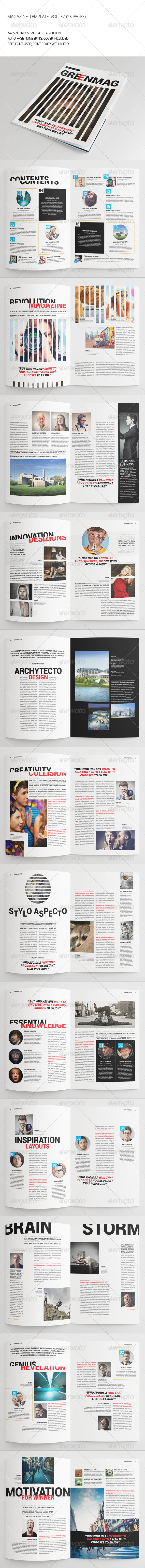GraphicRiver 25 Pages Universal Magazine Vol57 7761909