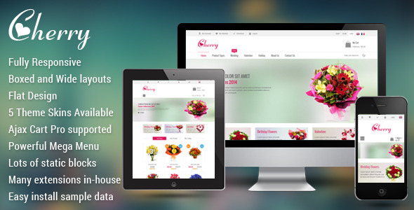 [Magento] SM Cherry - Nice responsive theme for online store