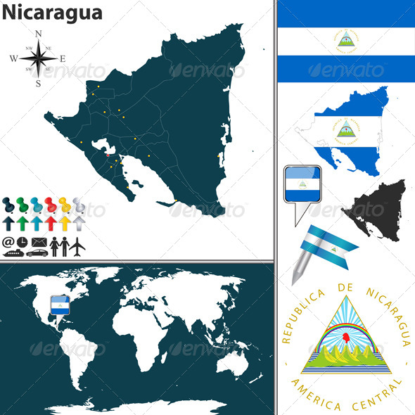 GraphicRiver Map of Nicaragua 7762218