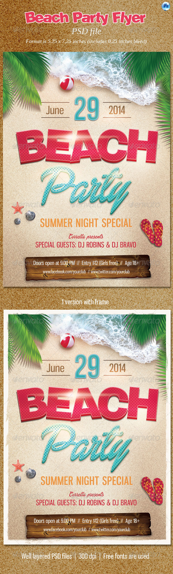 GraphicRiver Beach Party Flyer 7762264