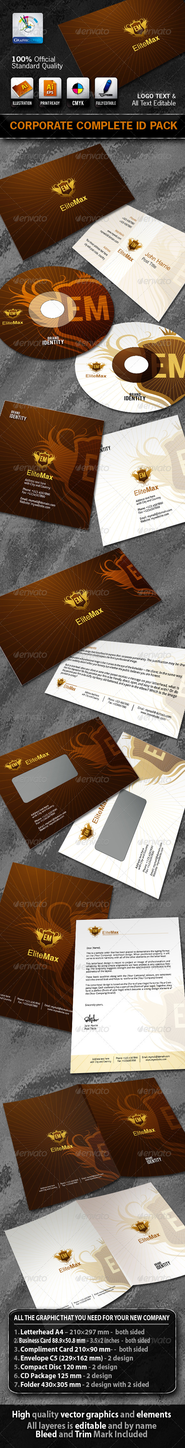 EliteMax Business Corporate ID Pack With Logo - Stationery Print Templates