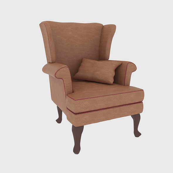 3DOcean Leather Armchair 7762752