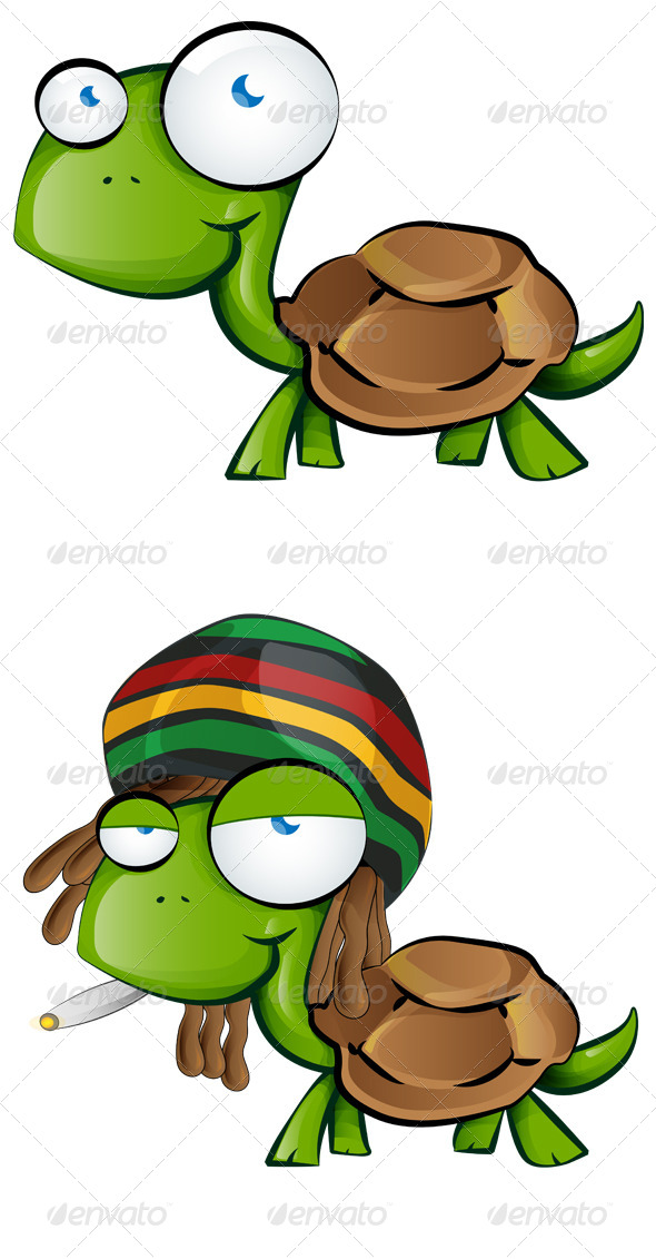 GraphicRiver Tortoise Cartoon 7741011
