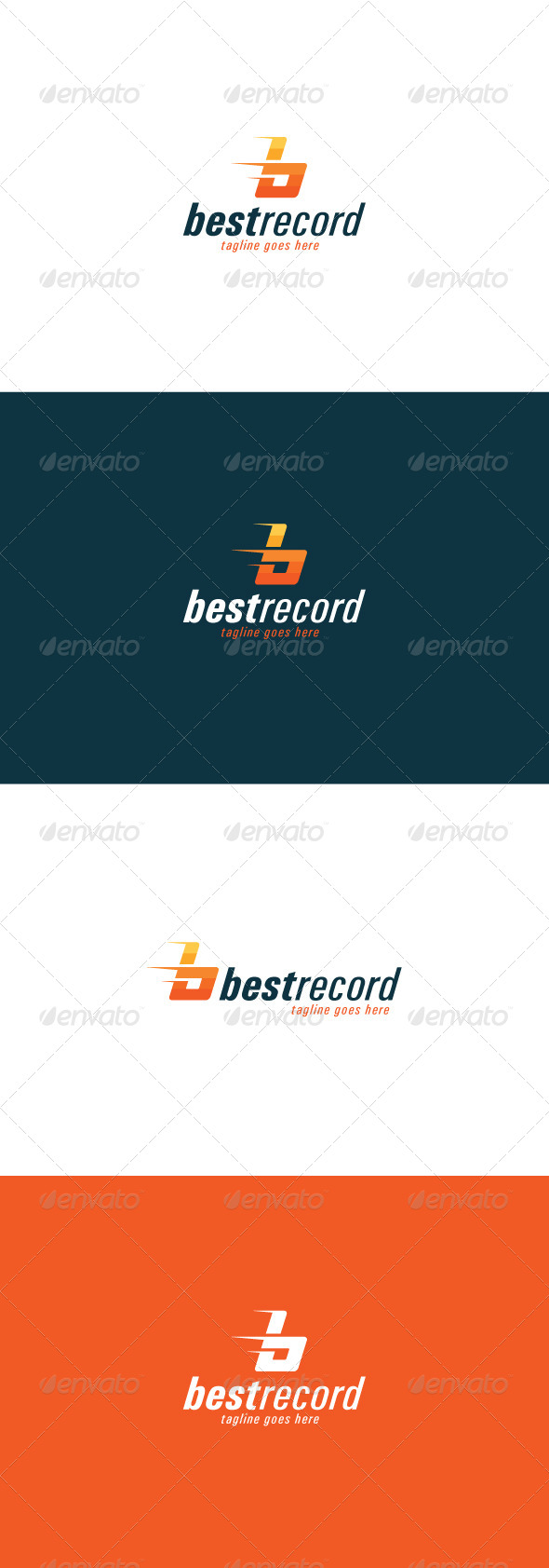 GraphicRiver Best Record Logo Letter B 7763080