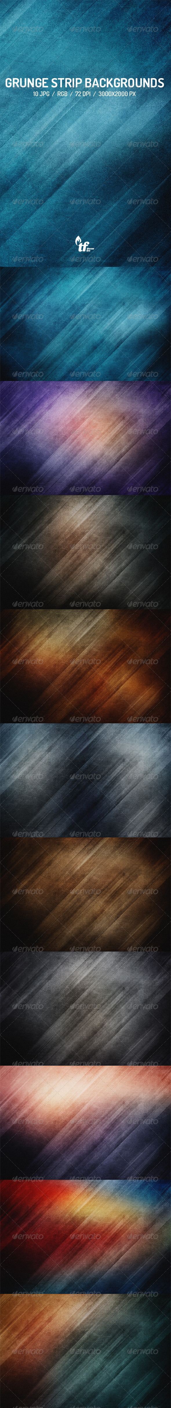 GraphicRiver Grunge Strip Backgrounds 7763304