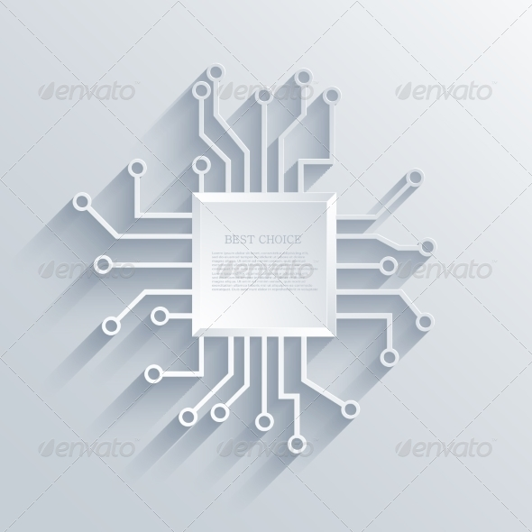 GraphicRiver Vector Modern Circuit Board Background 7763464