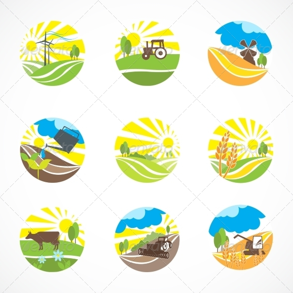 Agriculture Icons Set Web Icons