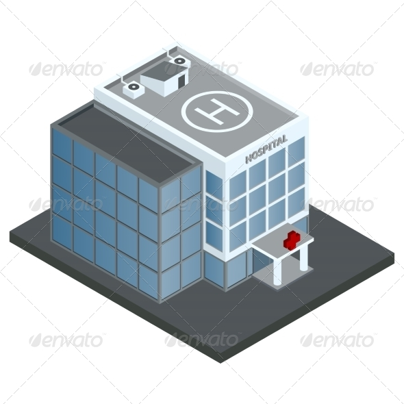GraphicRiver Hospital Building Isometric 7763503